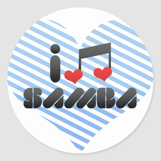Samba fan classic round sticker
