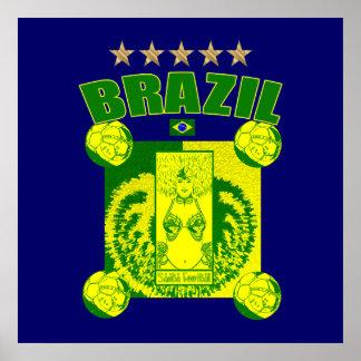 Samba football team Samba Futebol fans gifts Print