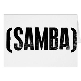 samba mood greeting card