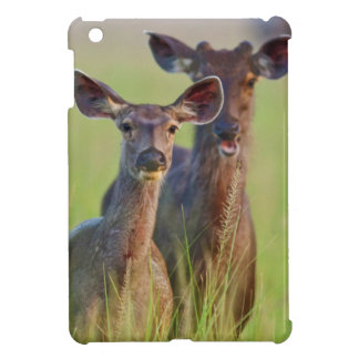 Sambar Deers in the meadows, Corbett National Park iPad Mini Case