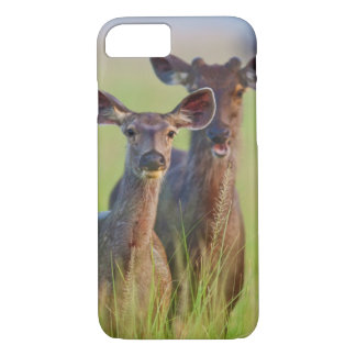 Sambar Deers in the meadows, Corbett National Park iPhone 8/7 Case