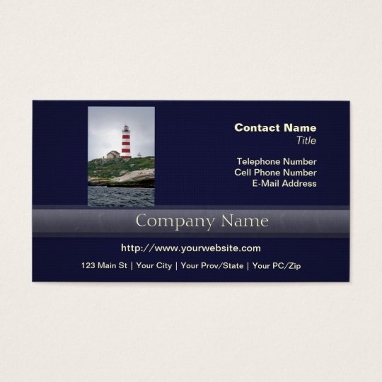 Sambro Island Lighthouse Business Card