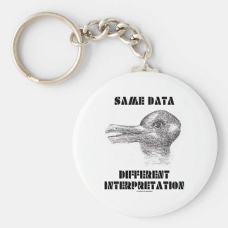 Same Data Different Interpretation (Duck Rabbit) Key Ring