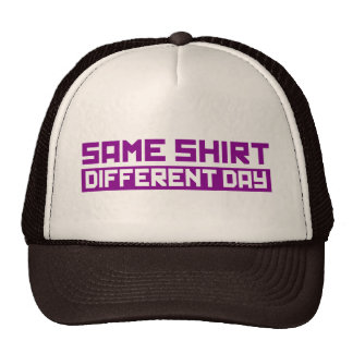 Same shirt different day hats