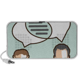 Same Thoughts Vector illustration iPod Speakers