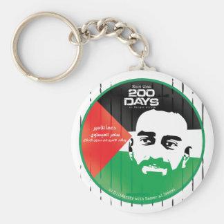Samer al Issawi hunger strike Basic Round Button Key Ring