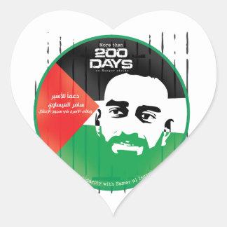 Samer al Issawi hunger strike Heart Sticker