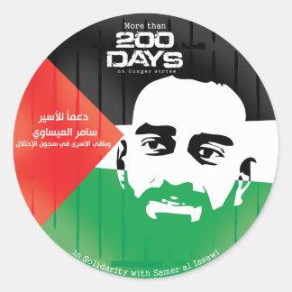 Samer al Issawi hunger strike Round Sticker