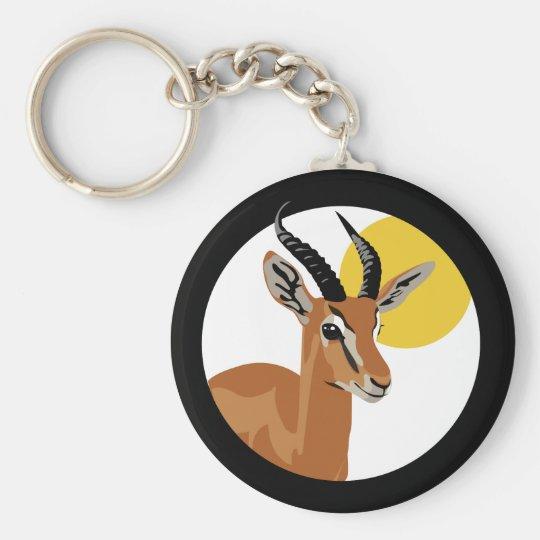 Samer the Gazelle Basic Round Button Key Ring