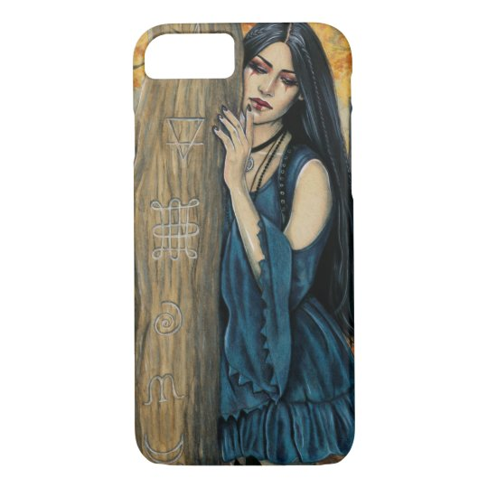 Samhain Gothic Autumn Witch Fantasy Art Phone Case