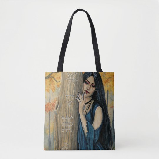 Samhain Gothic Autumn Witch Fantasy Art Tote