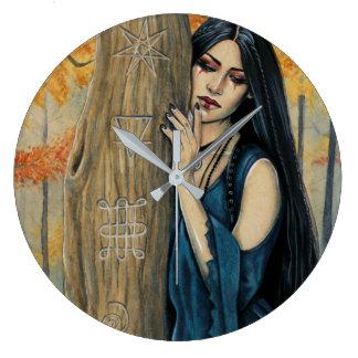 Samhain Gothic Autumn Witch Wall Clock