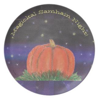 Samhain Pumpkin Night Plate