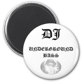 SamixMusic, DJ, UNDERGROUND BASS 6 Cm Round Magnet