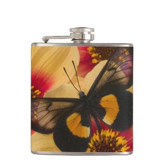 Sammamish Washington Photograph of Butterfly 39 Hip Flask