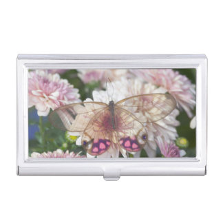 Sammamish Washington Photograph of Butterfly on 15 Business Card Holder