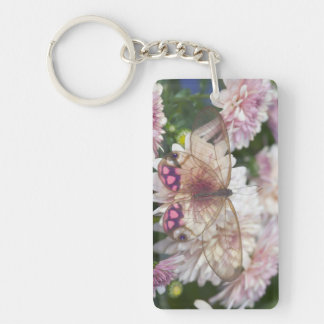 Sammamish Washington Photograph of Butterfly on 15 Key Ring