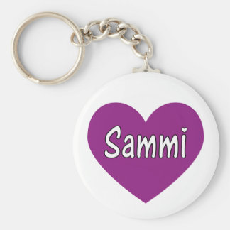Sammi Basic Round Button Key Ring