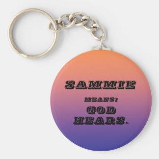 Sammie Basic Round Button Key Ring