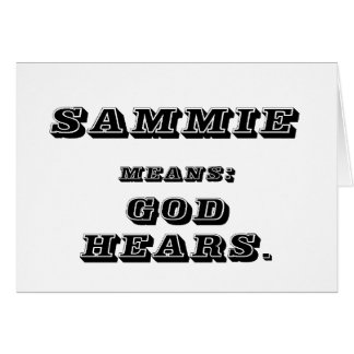 Sammie Card