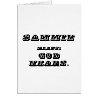Sammy Card