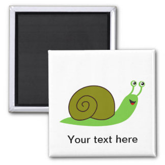 Sammy the Green Garden Snail Magnet