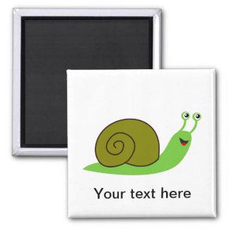 Sammy the Green Garden Snail Refrigerator Magnets