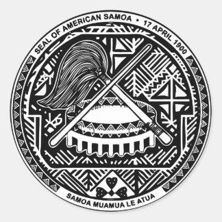 SAMOA CLASSIC ROUND STICKER