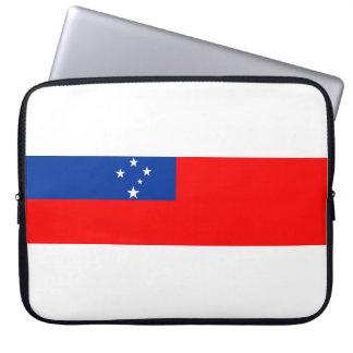 samoa country flag nation symbol laptop sleeve