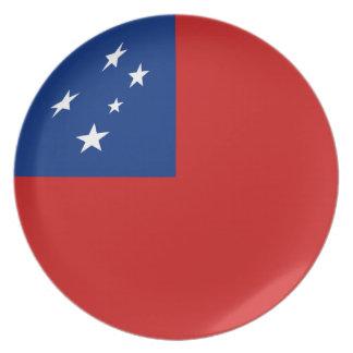 Samoa Fisheye Flag Plate