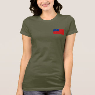 Samoa Flag and Map dk T-Shirt