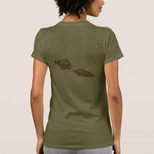 Samoa Flag and Map dk T-Shirt Tee Shirt