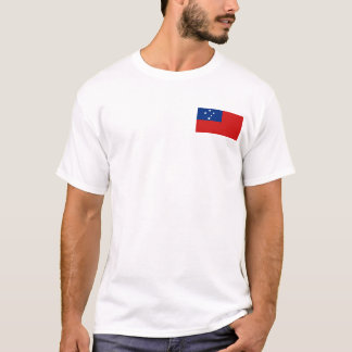 Samoa Flag and Map T-Shirt