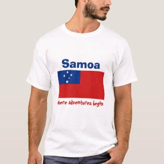 Samoa Flag + Map + Text T-Shirt