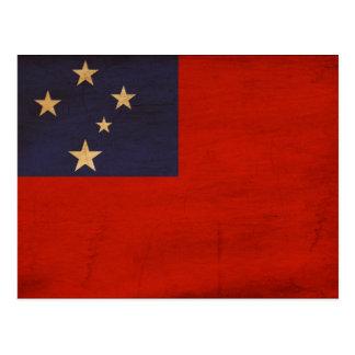 Samoa Flag Postcard