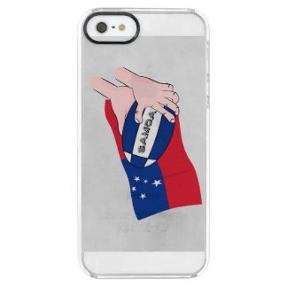 Samoa Flag Rugby Ball Pass Clear iPhone SE/5/5s Case