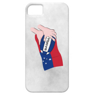 Samoa Flag Rugby Ball Pass iPhone 5 Cases