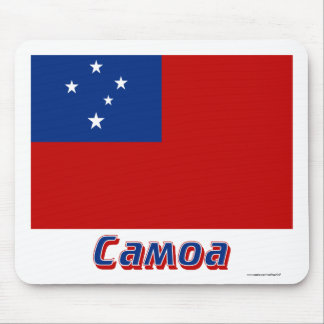 Samoa Flag with name in Russian Mousepad