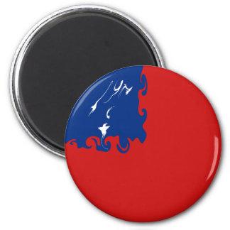 Samoa Gnarly Flag 6 Cm Round Magnet