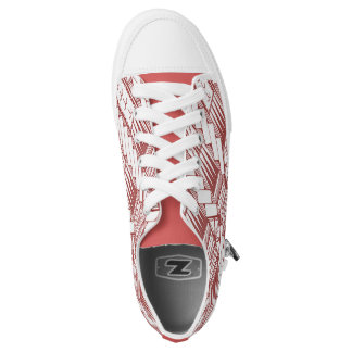 Samoa Light Red Logo with Tribal Designs by TONU Low Tops