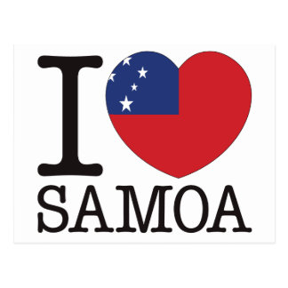 Samoa Love v2 Postcard