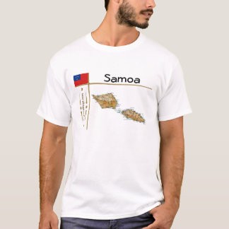 Samoa Map + Flag + Title T-Shirt
