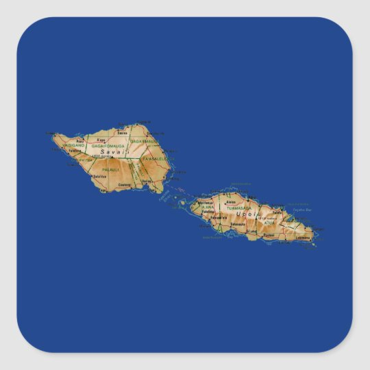 Samoa Map Sticker