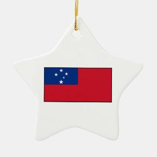 Samoa - Samoan Flag Christmas Ornaments