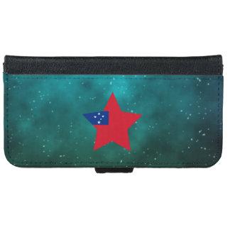 Samoa Star Design Flag iPhone 6 Wallet Case