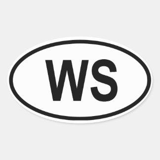 "Samoa ""WS"" Oval Sticker"