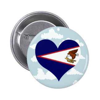 Samoan Flag on a cloudy background 2 Inch Round Button