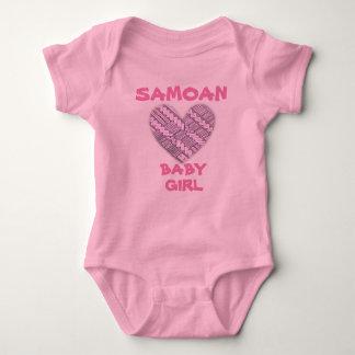 Samoan Infant Pink Logo with Tribal Designs Baby Bodysuit