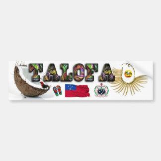 """Samoan """"Talofa"""" Bumper Sticker"""