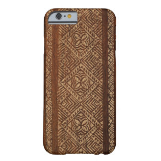 Samoan Tapa Hawaiian Faux Wood Surfboard iPhone 6 Case